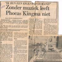 Zonder muziek leeft Phocas Kingma niet