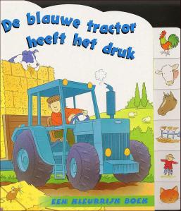 blauwe tractor