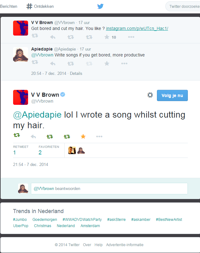 VV Brown tweet