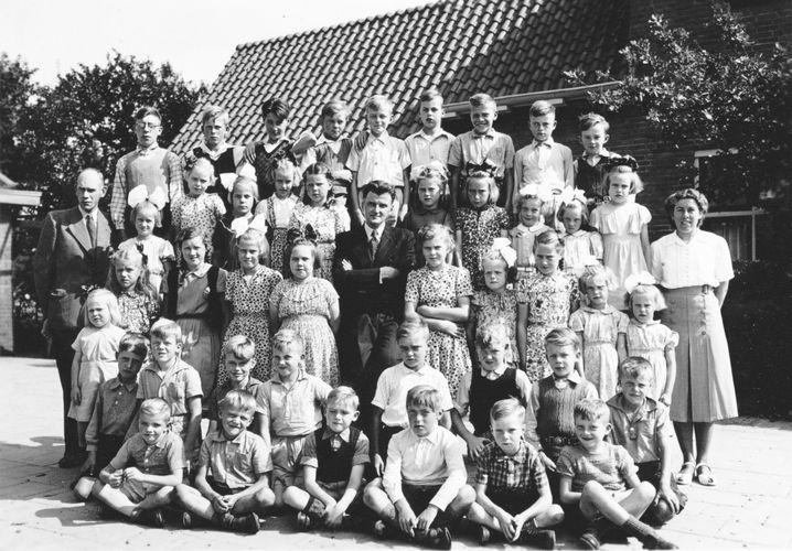 gereformeerde schoolfoto Letterzetter