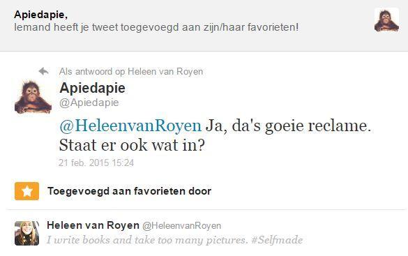 Tweet Heleen van Royen