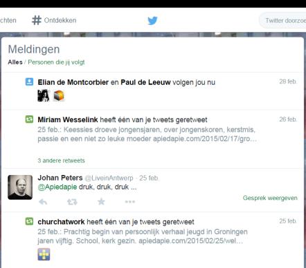 Twitter   Meldingen (1)