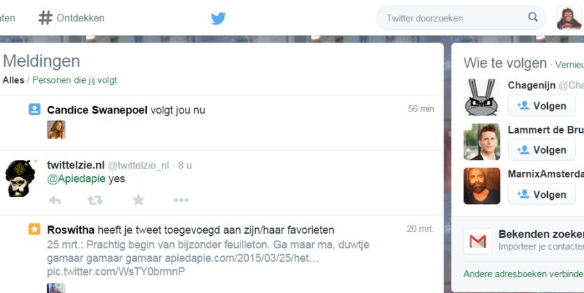 Twitter   Meldingen Candice Swanepoel