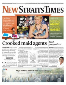 New Straits Times 2011
