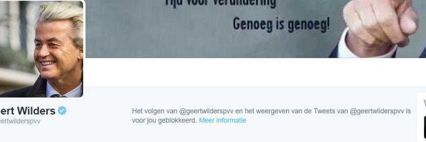 Wat een ramp, ik mag de tweets van Geert Wilders niet meer zien