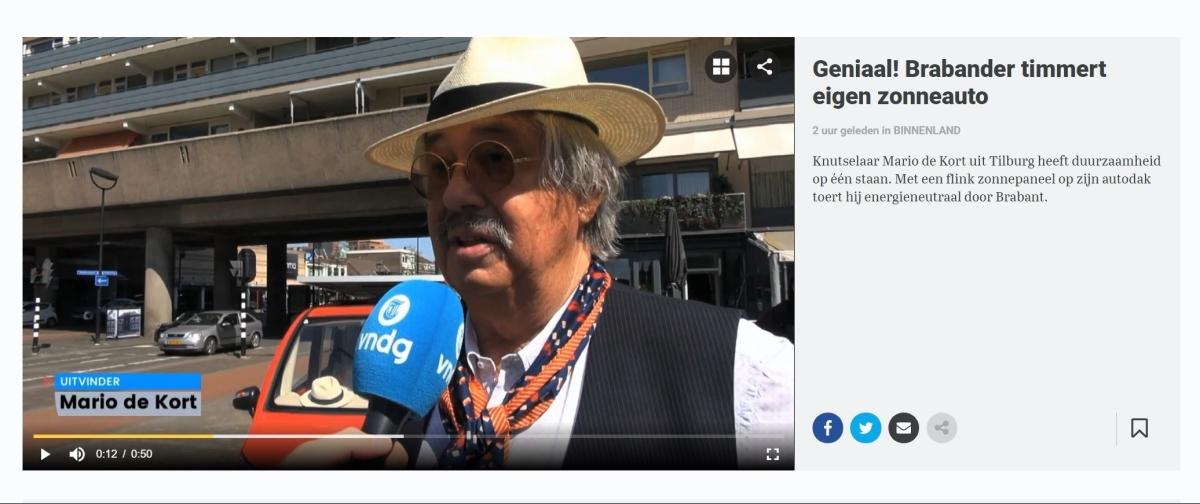 Mario de Kort tuft duurzaam door het Brabantseland