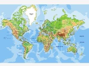 wereldkaart-aluminium